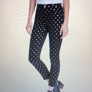 NWT Jen7 By 7 For All Mankind Metallic Dot Jeans